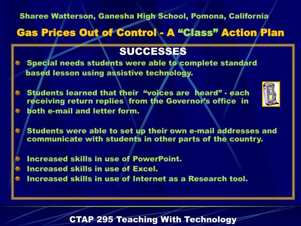 SUCCESSES
