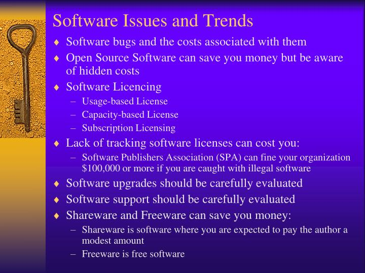 Software Issues and Trends