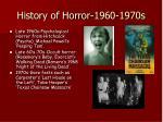 history of horror 1960 1970s