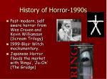 history of horror 1990s