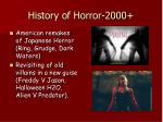 history of horror 2000
