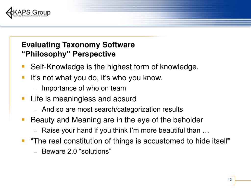 Evaluating Taxonomy Software