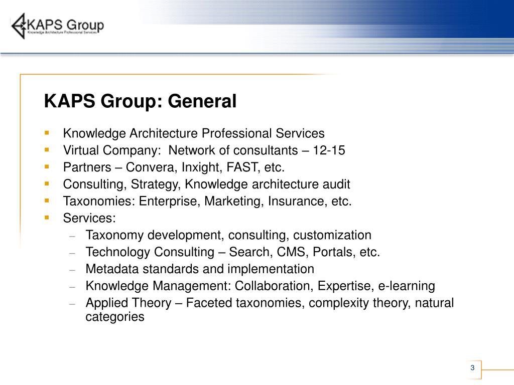 KAPS Group: General