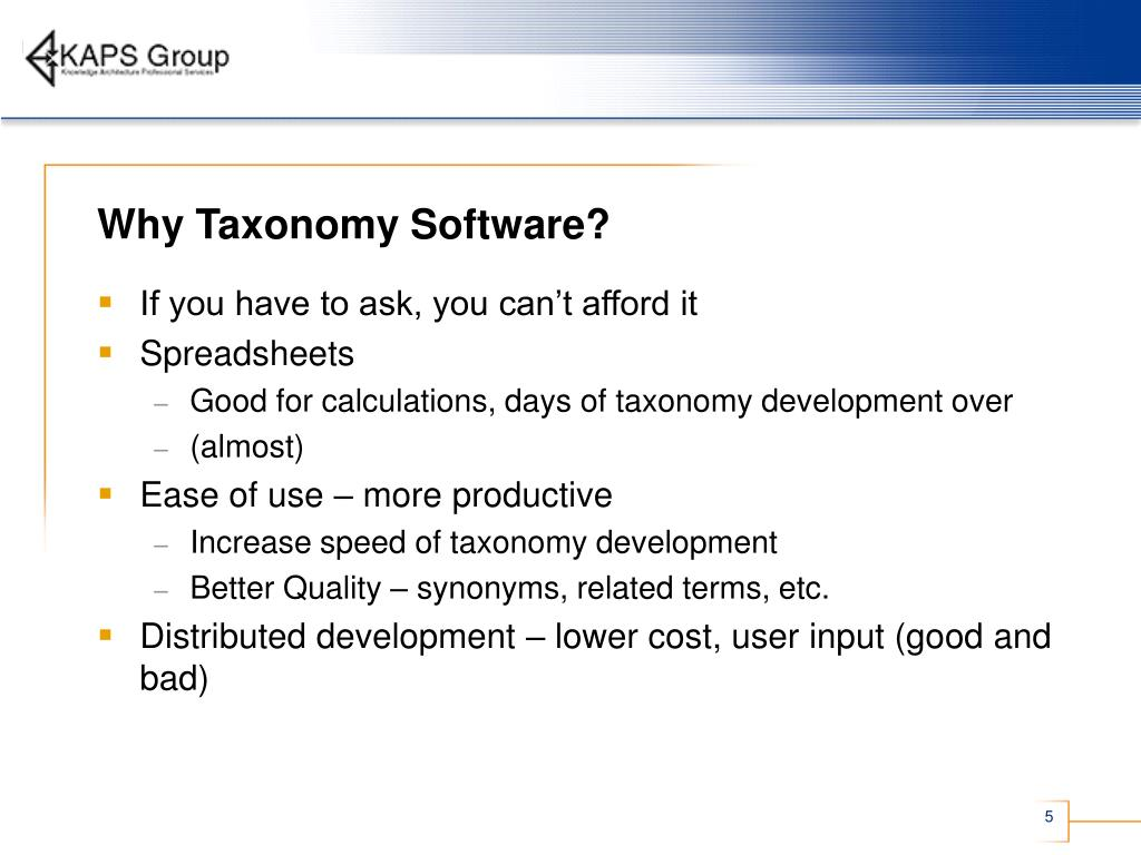 Why Taxonomy Software?