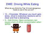 dwe driving while eating