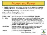 access and power