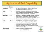 agricultural soil capability
