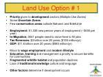 land use option 138