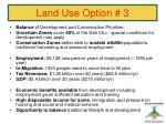 land use option 342