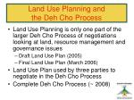 land use planning and the deh cho process