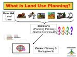 what is land use planning