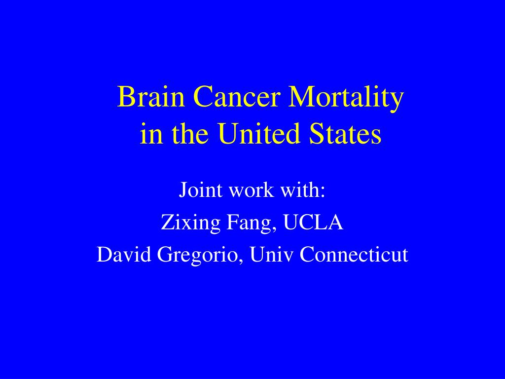 brain cancer mortality in the united states