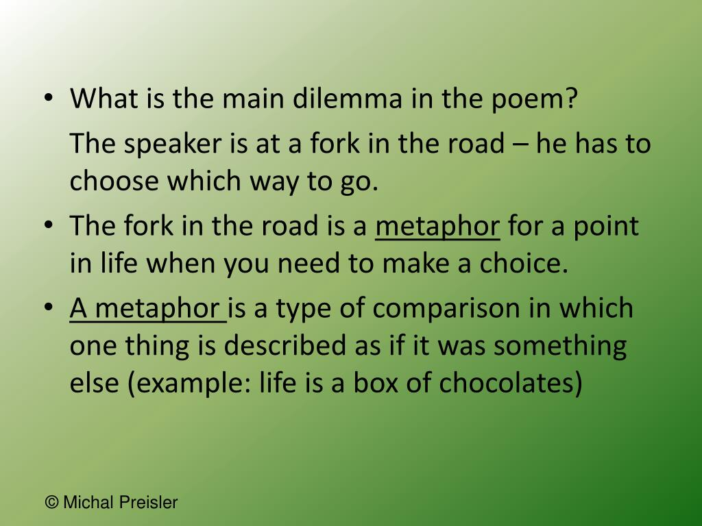 What is the main dilemma in the poem?