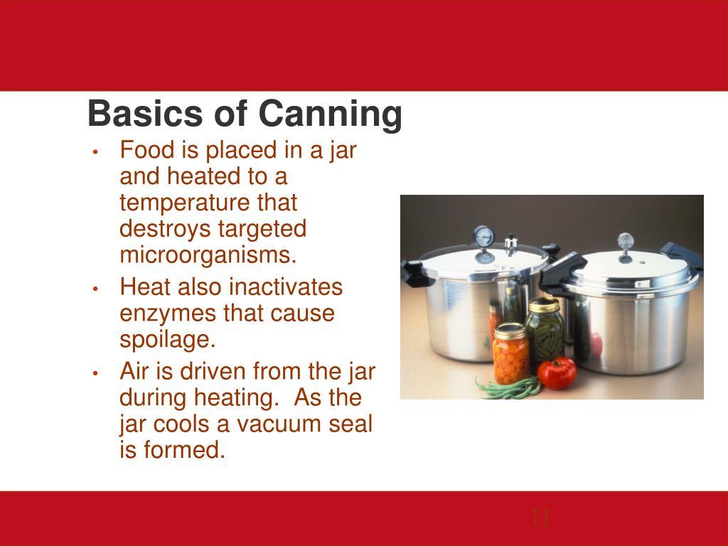 Basics of Canning