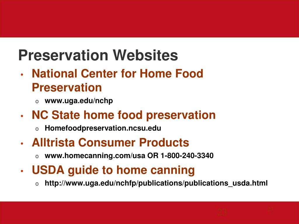 Preservation Websites