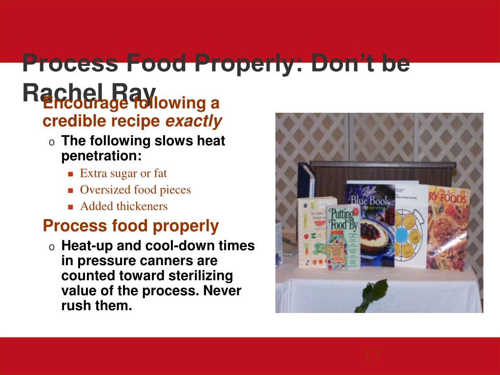Process Food Properly: Don't be Rachel Ray