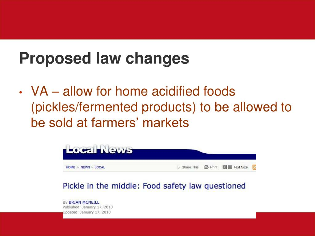Proposed law changes