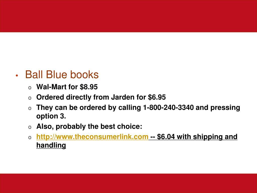 Ball Blue books