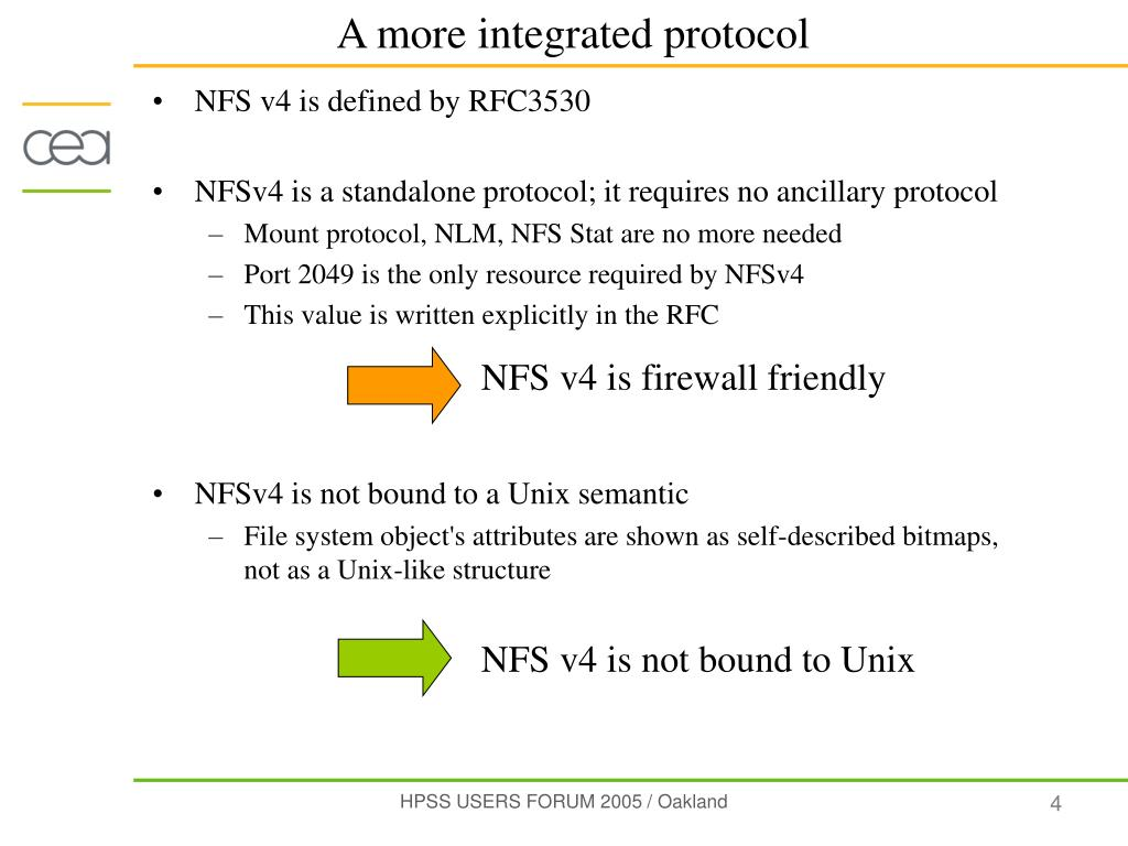 NFS v4 is defined by RFC3530