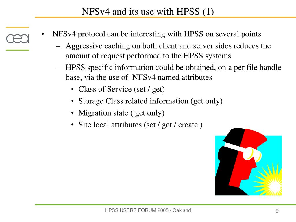 NFSv4 protocol can be interesting with HPSS on several points