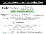 3 p correlation an alternative tool