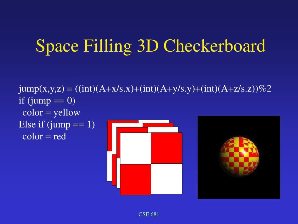 Space Filling 3D Checkerboard
