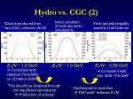 hydro vs cgc 2