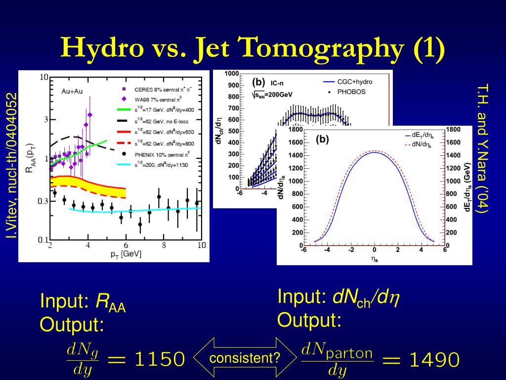 Hydro vs. Jet Tomography (1)