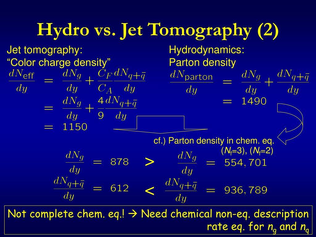 Hydro vs. Jet Tomography (2)