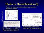 hydro vs recombination 1