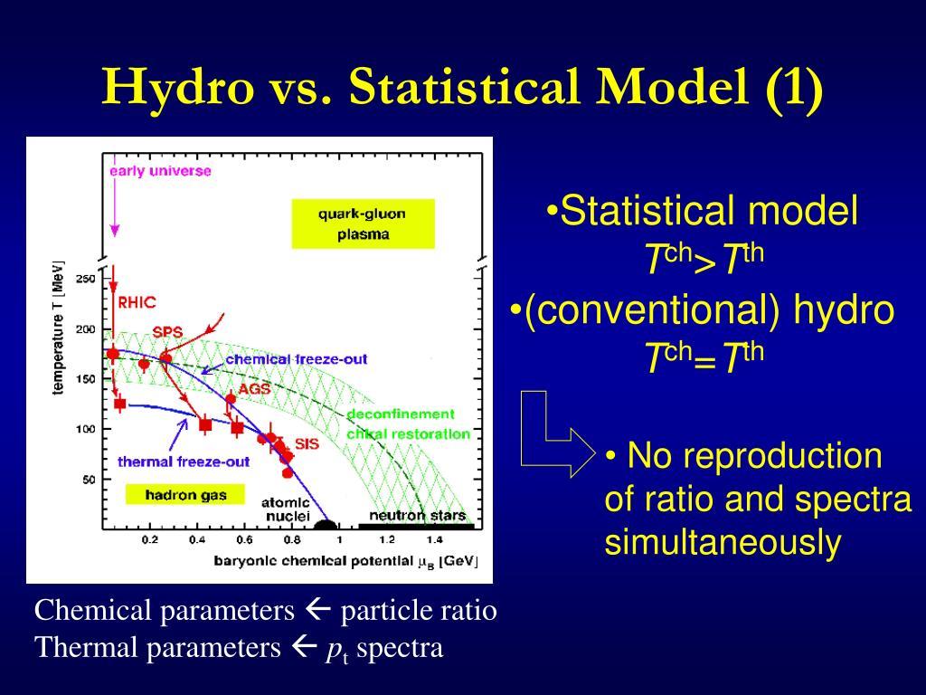 Hydro vs. Statistical Model (1)