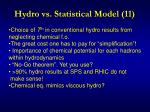 hydro vs statistical model 11