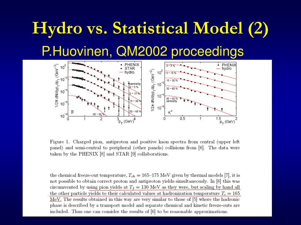 Hydro vs. Statistical Model (2)