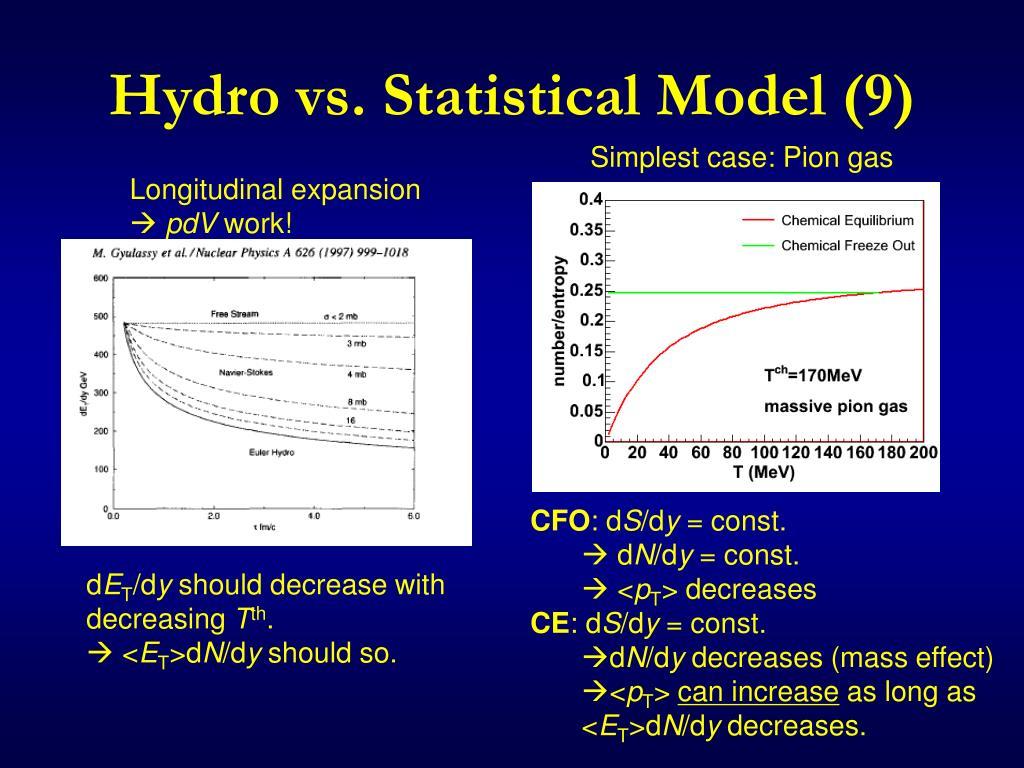 Hydro vs. Statistical Model (9)