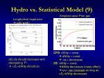 hydro vs statistical model 9