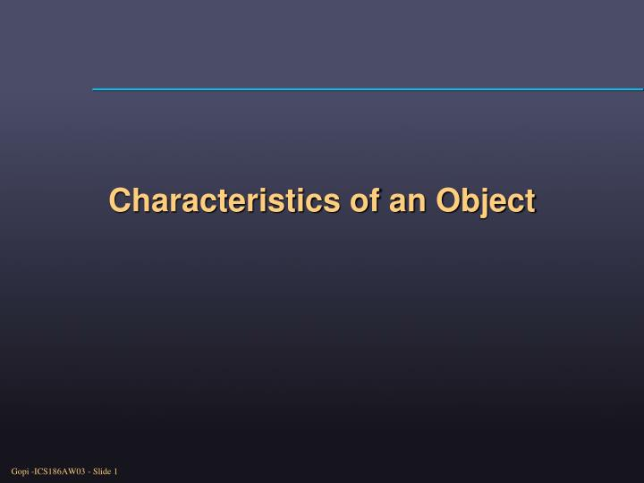 Characteristics of an object l.jpg