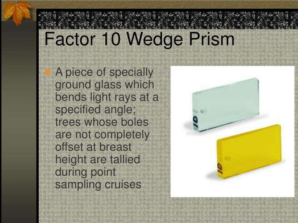 Factor 10 Wedge Prism