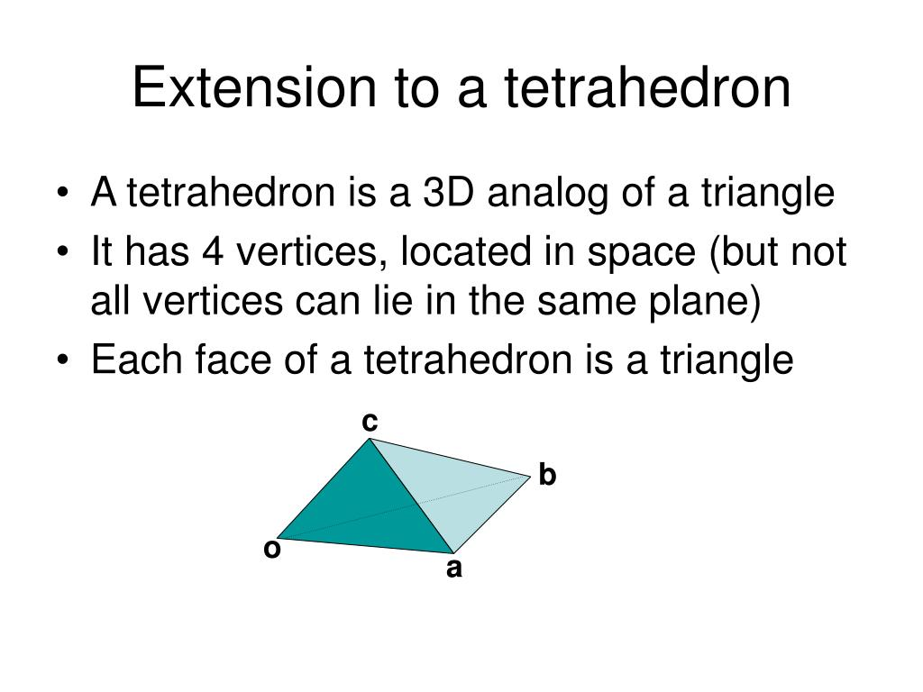 Extension to a tetrahedron