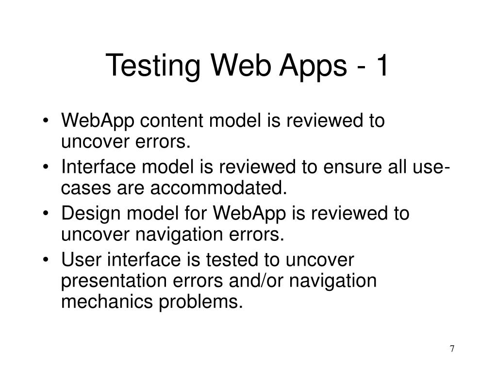 Testing Web Apps - 1