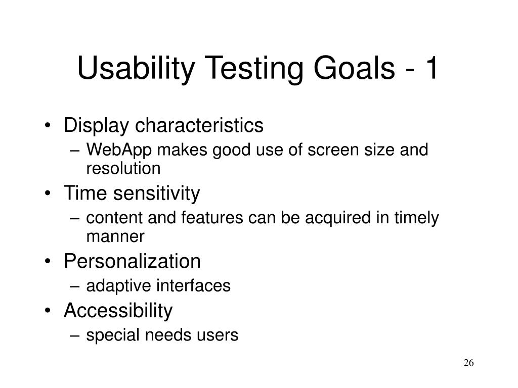 Usability Testing Goals - 1