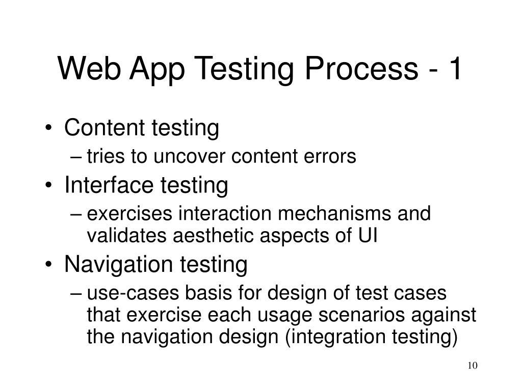 Web App Testing Process - 1