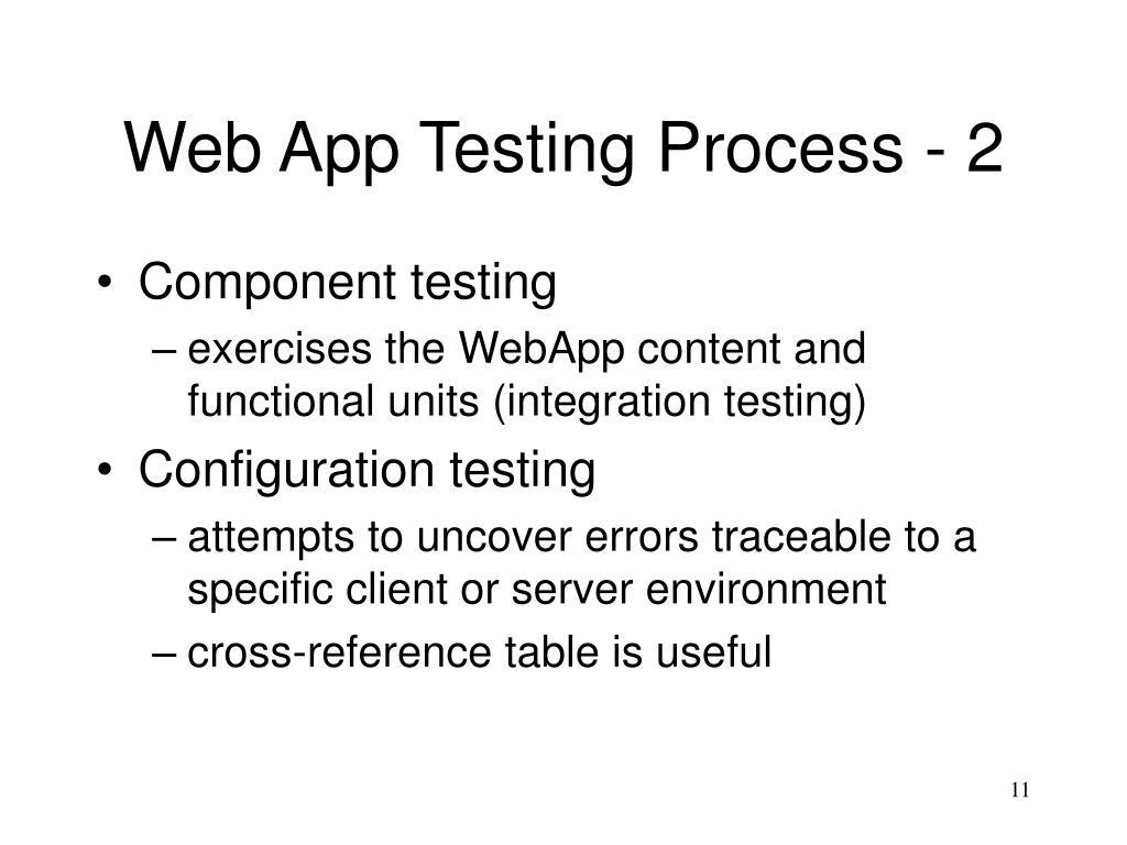Web App Testing Process - 2