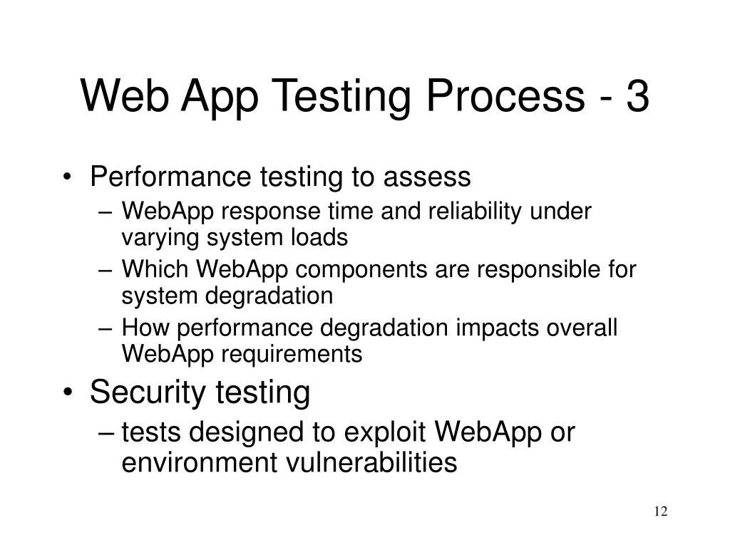 Web App Testing Process - 3