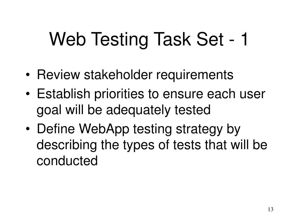 Web Testing Task Set - 1