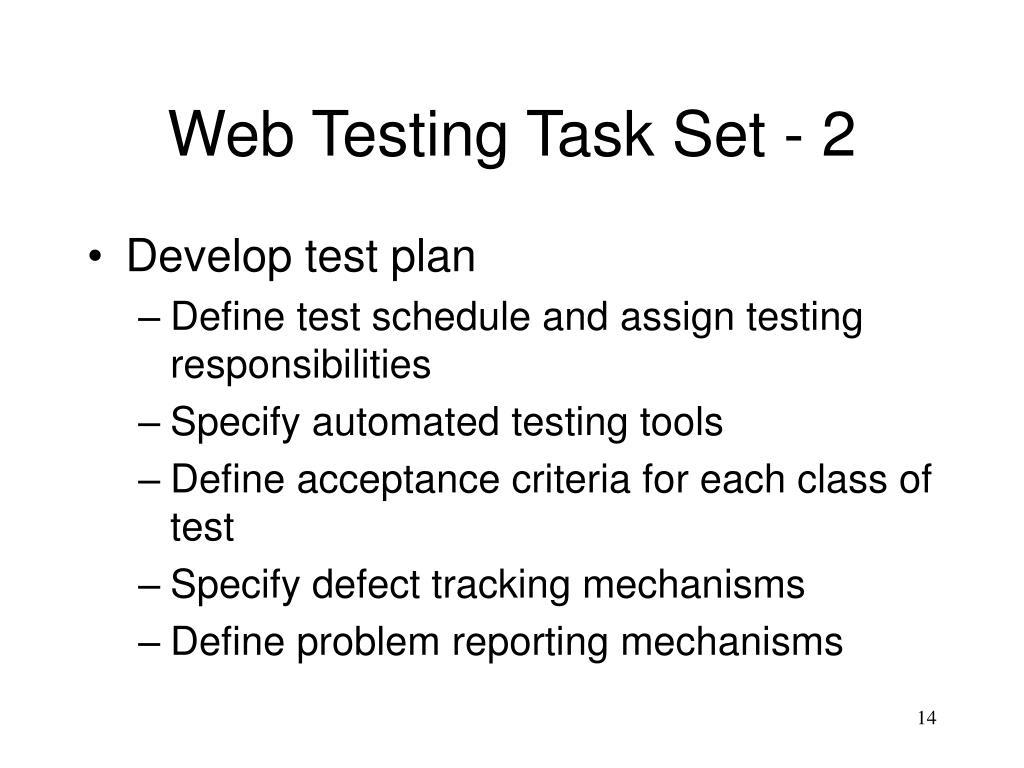 Web Testing Task Set - 2