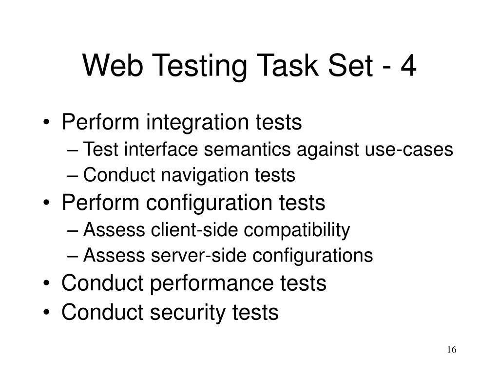 Web Testing Task Set - 4