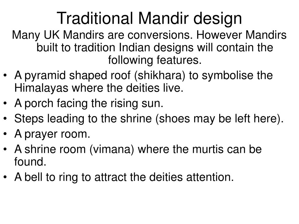 Traditional Mandir design