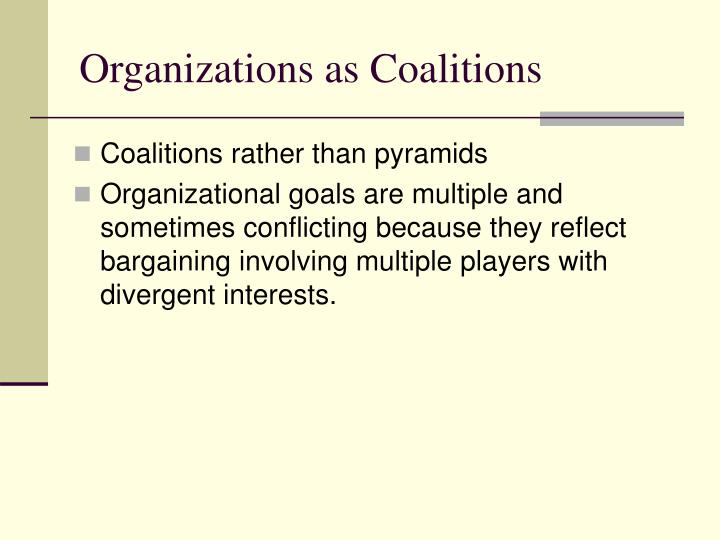 Organizations as Coalitions