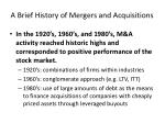 a brief history of mergers and acquisitions4