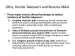 lbos hostile takeovers and reverse m a23